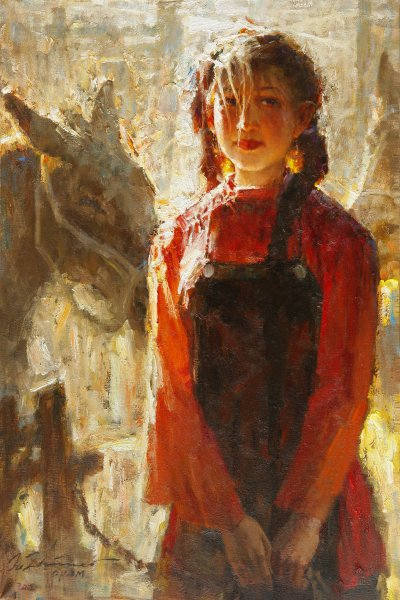 girl-with-her-horses-oil-36x24in-2012-a