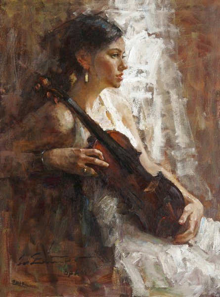 girl-with-her-violin-oil-40x30in-2011-8