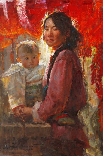 light-on-son-and-mother-oil-36x24in-2011