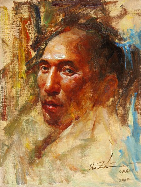 strong-man-oil-16x12in-2010