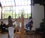 01 Zhiwei Tu Painting in Fechin Studio